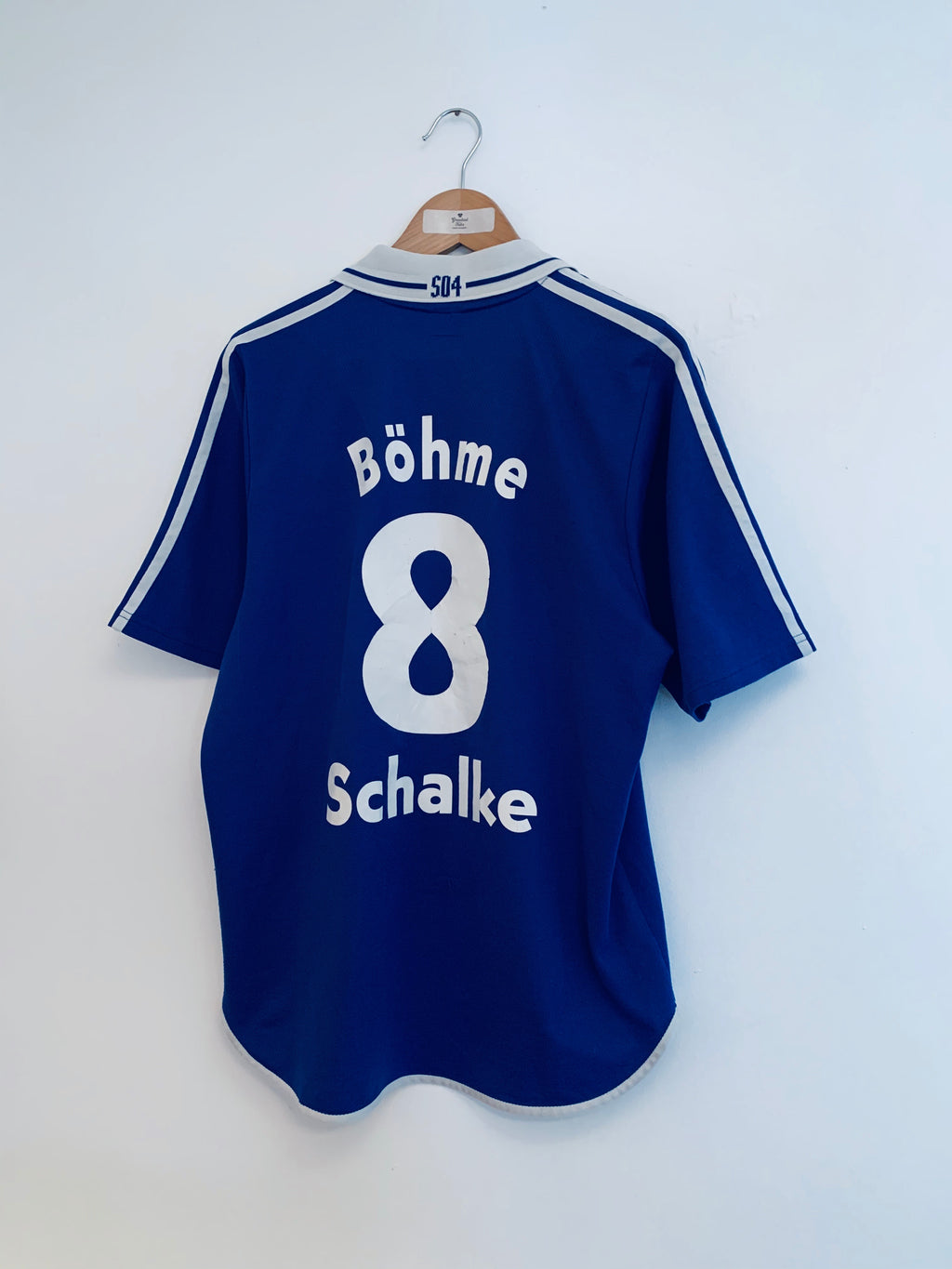 2001/02 Schalke Home Shirt Bohme #8 (XL) 6.5/10