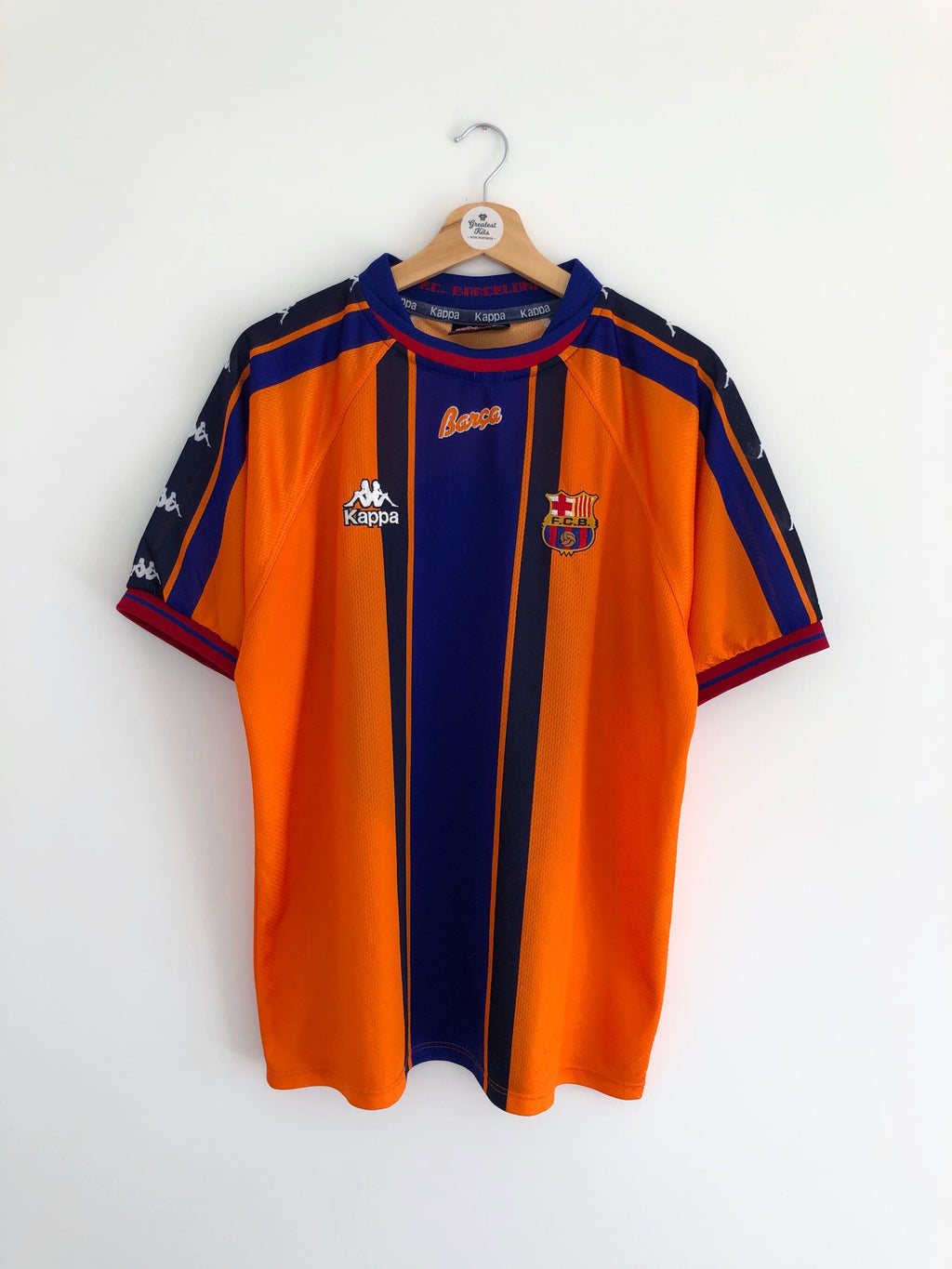 1997/98 Barcelona Away Shirt (L) 8.5/10