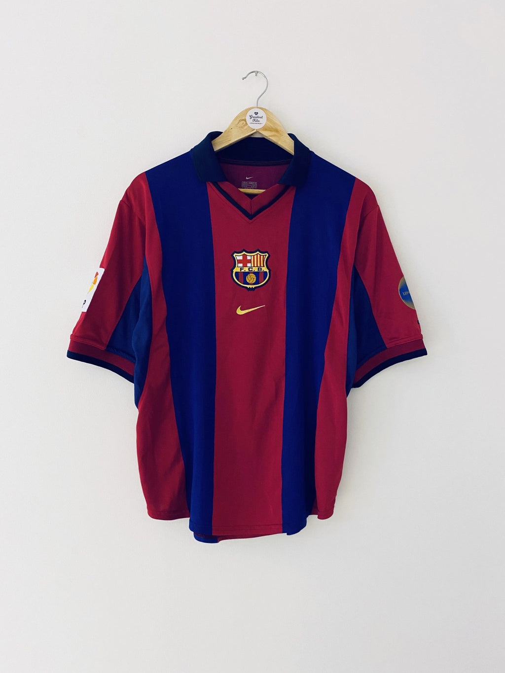2000/01 Barcelona Home Centenary Shirt (M) 9.5/10
