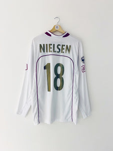 2006/07 Reggina *Match Issue* Away L/S Shirt Nielsen #18 (L) 7.5/10