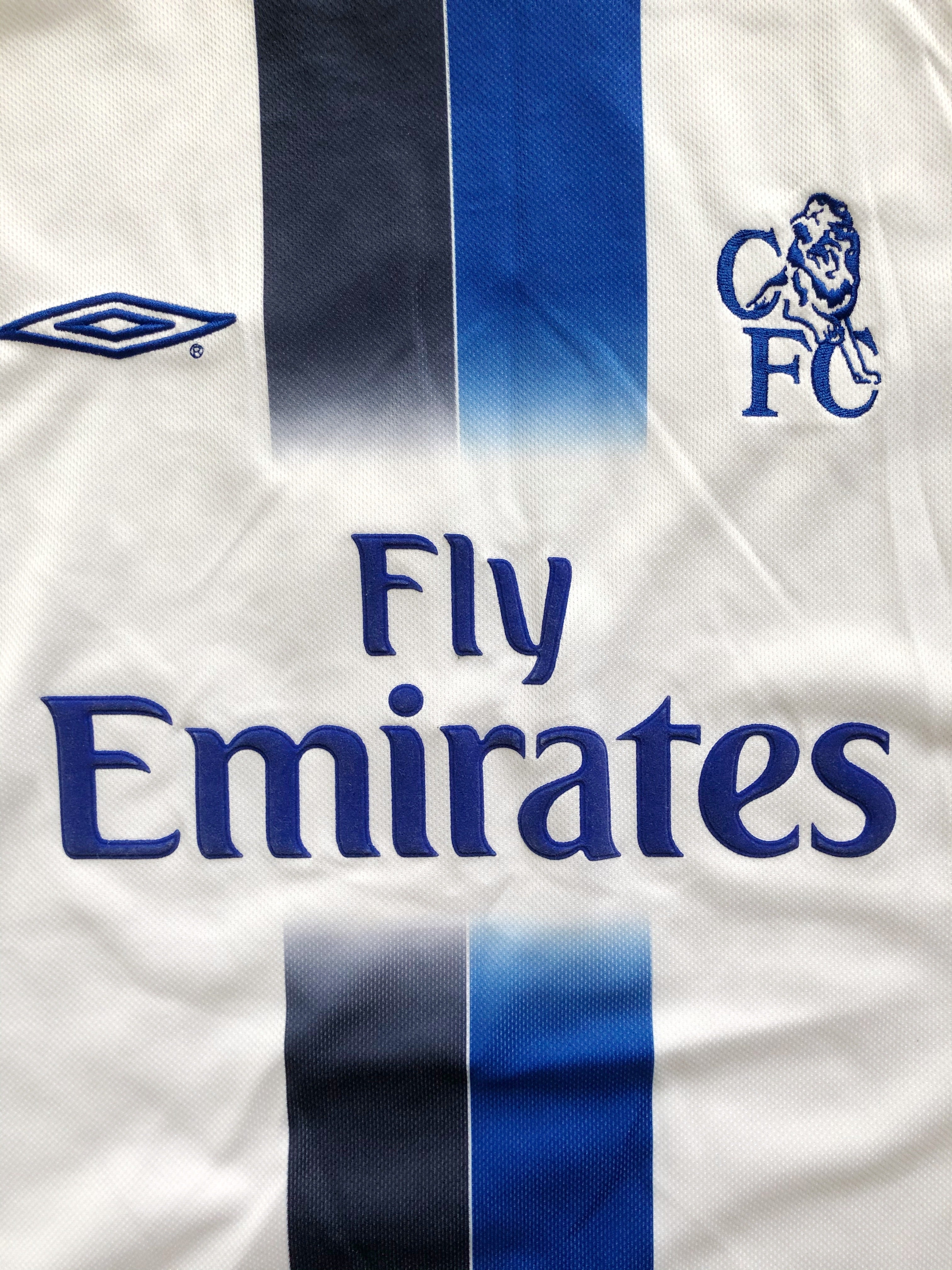2003/05 Chelsea Away L/S Shirt Johnson #2 (M) 9.5/10