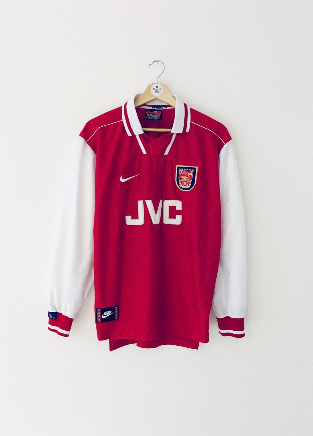 1996/98 Arsenal Home L/S Shirt (M) 9/10
