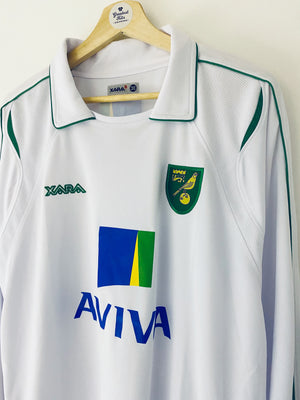 2009/11 Norwich Away L/S Shirt (L) 9.5/10