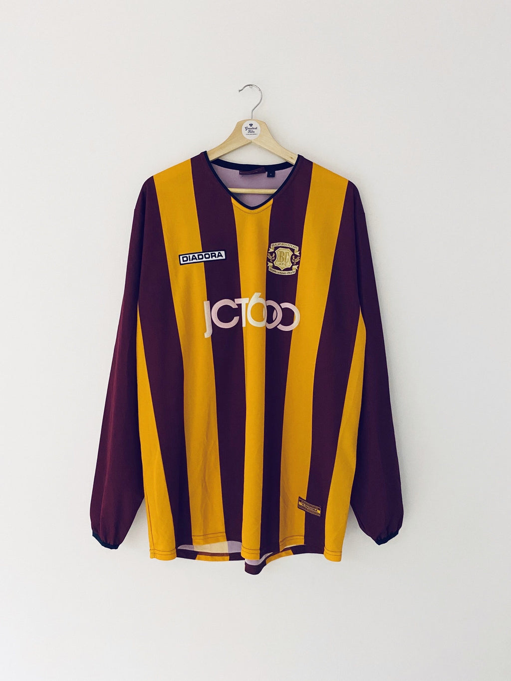 2003/04 Bradford City Home Centenary L/S Shirt (L) 8/10