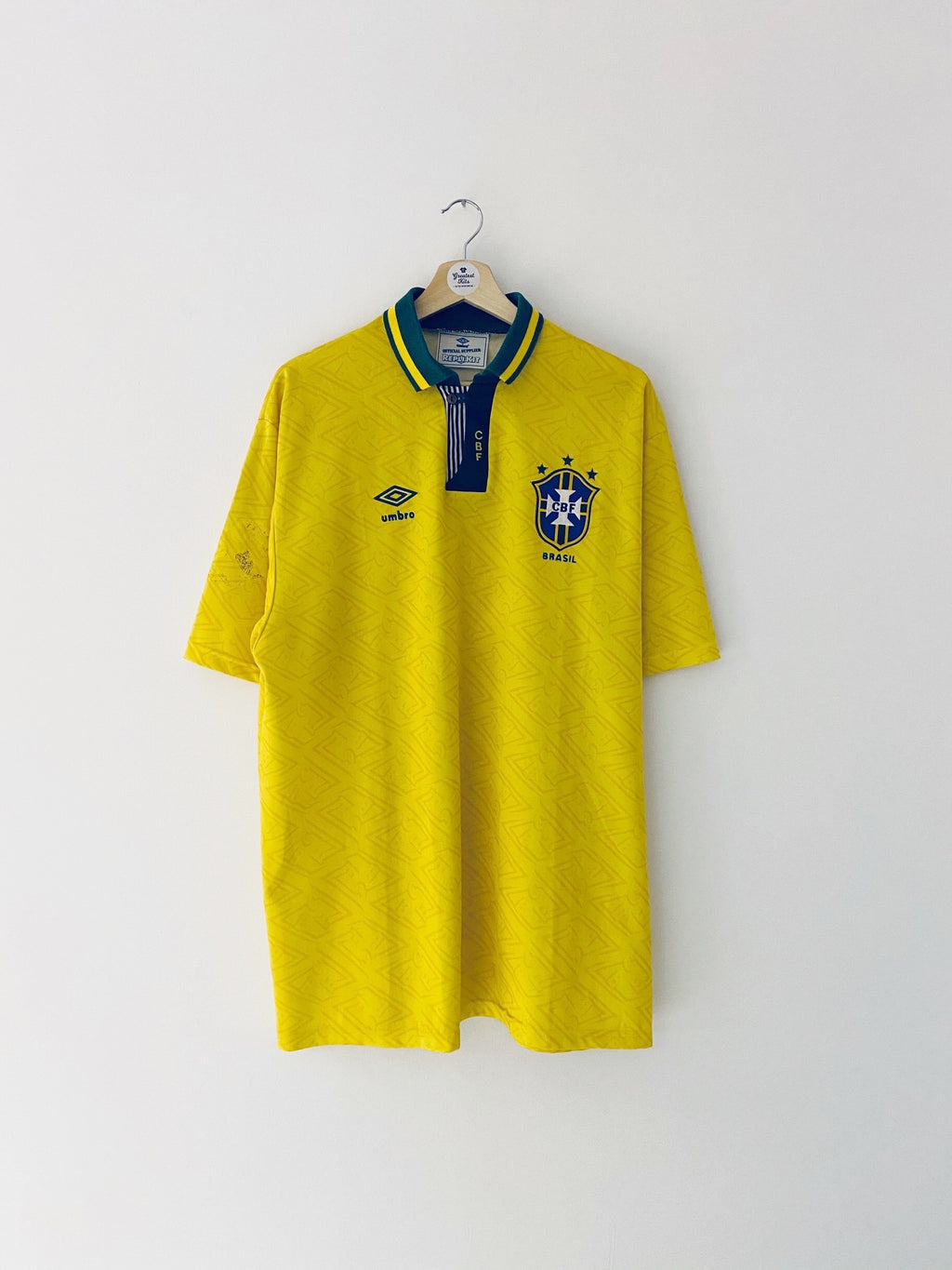 1991/93 Brazil Home Shirt (XL) 7.5/10