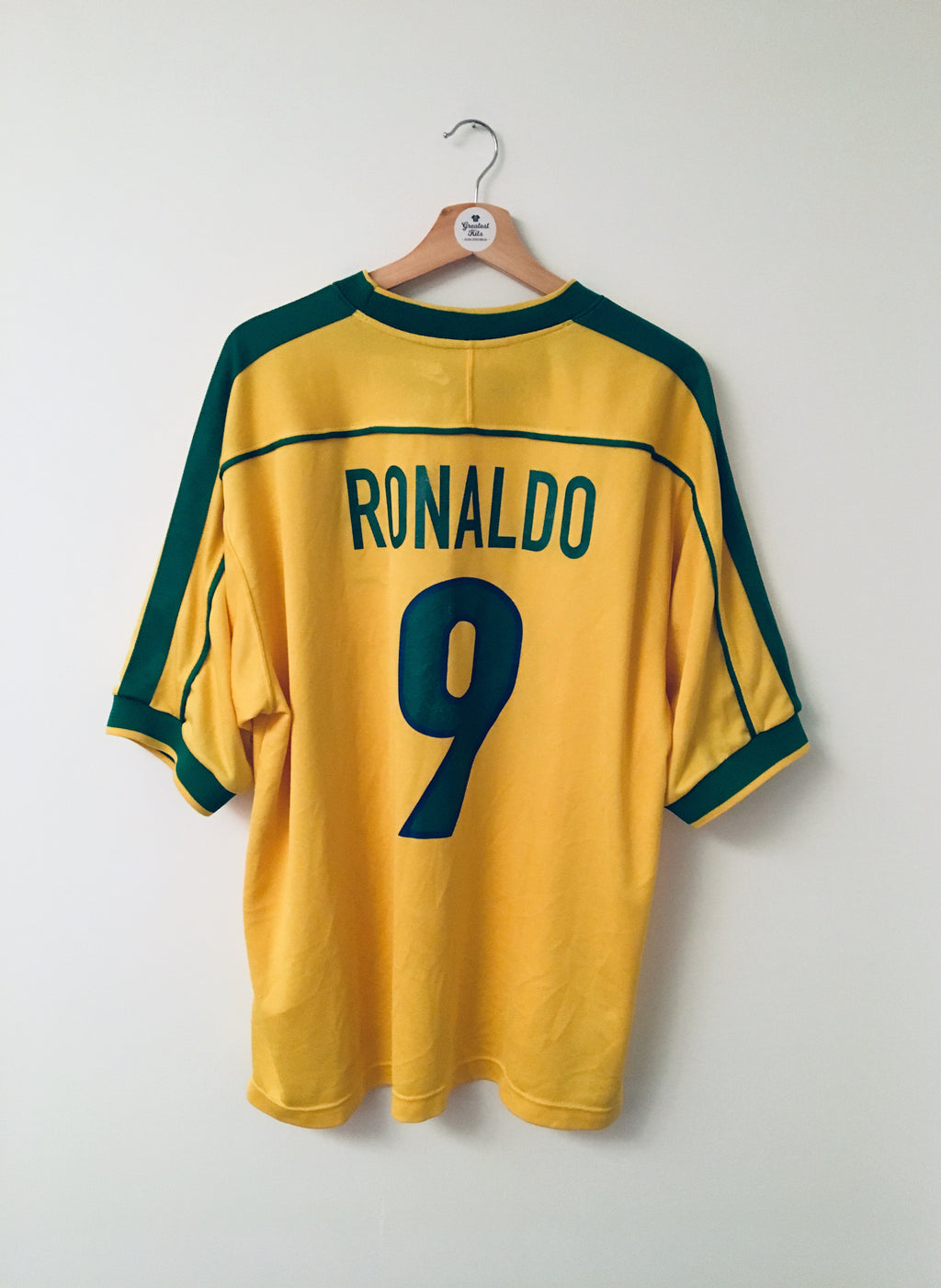 1998/00 Brazil Home Shirt Ronaldo #9 (XL)