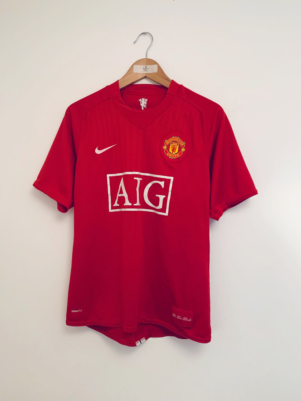 2007/09 Manchester United Home Shirt (M) 9/10