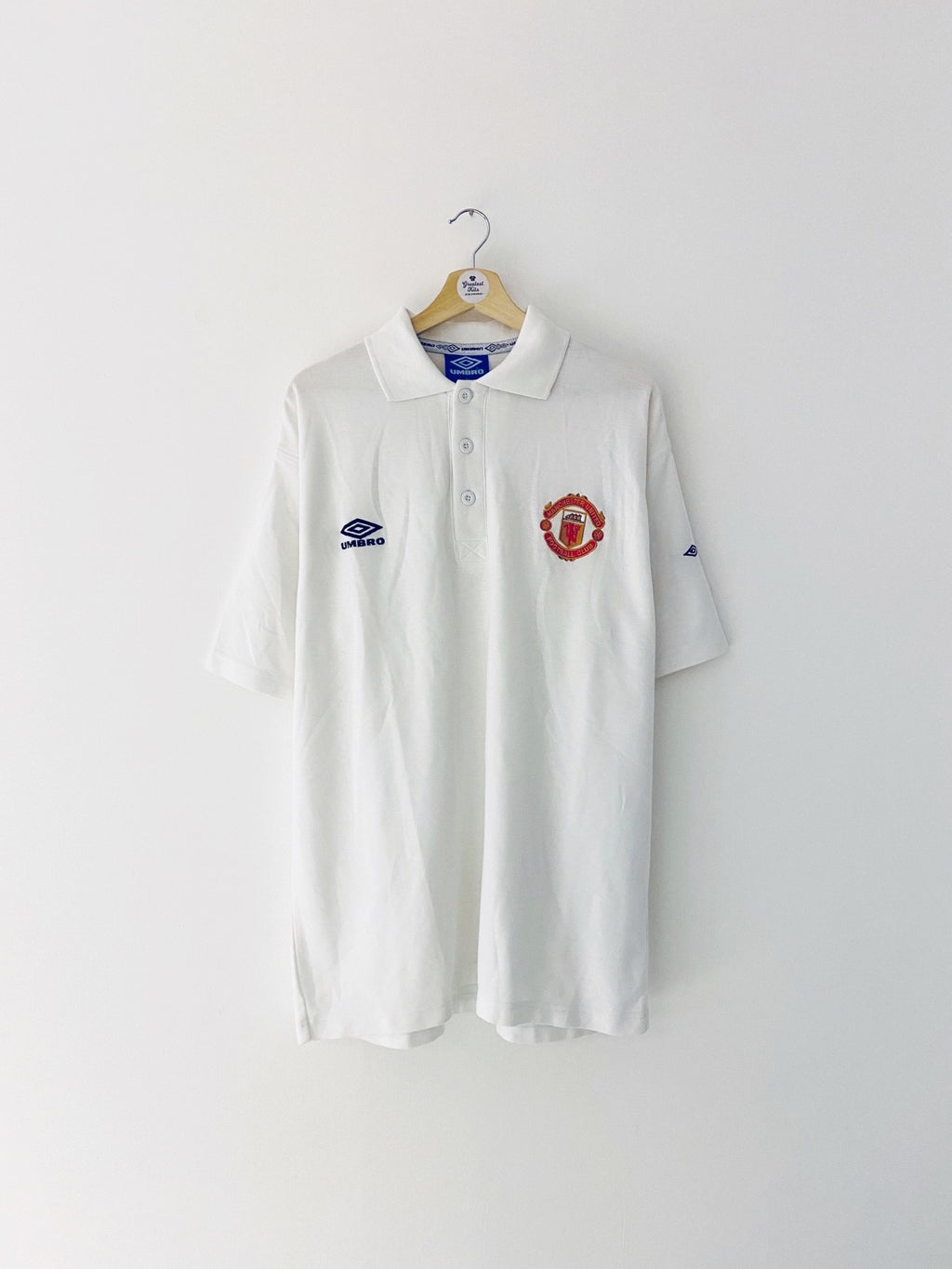 1998/99 Manchester United Polo Shirt (XL) 9/10