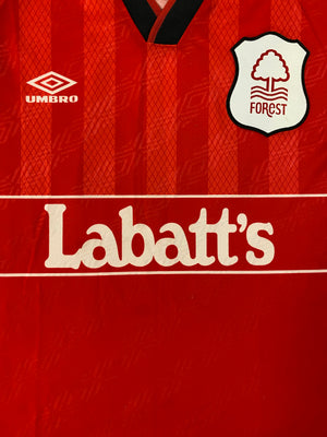 1994/96 Nottingham Forest Home Shirt Cooper #4 (M) 9/10