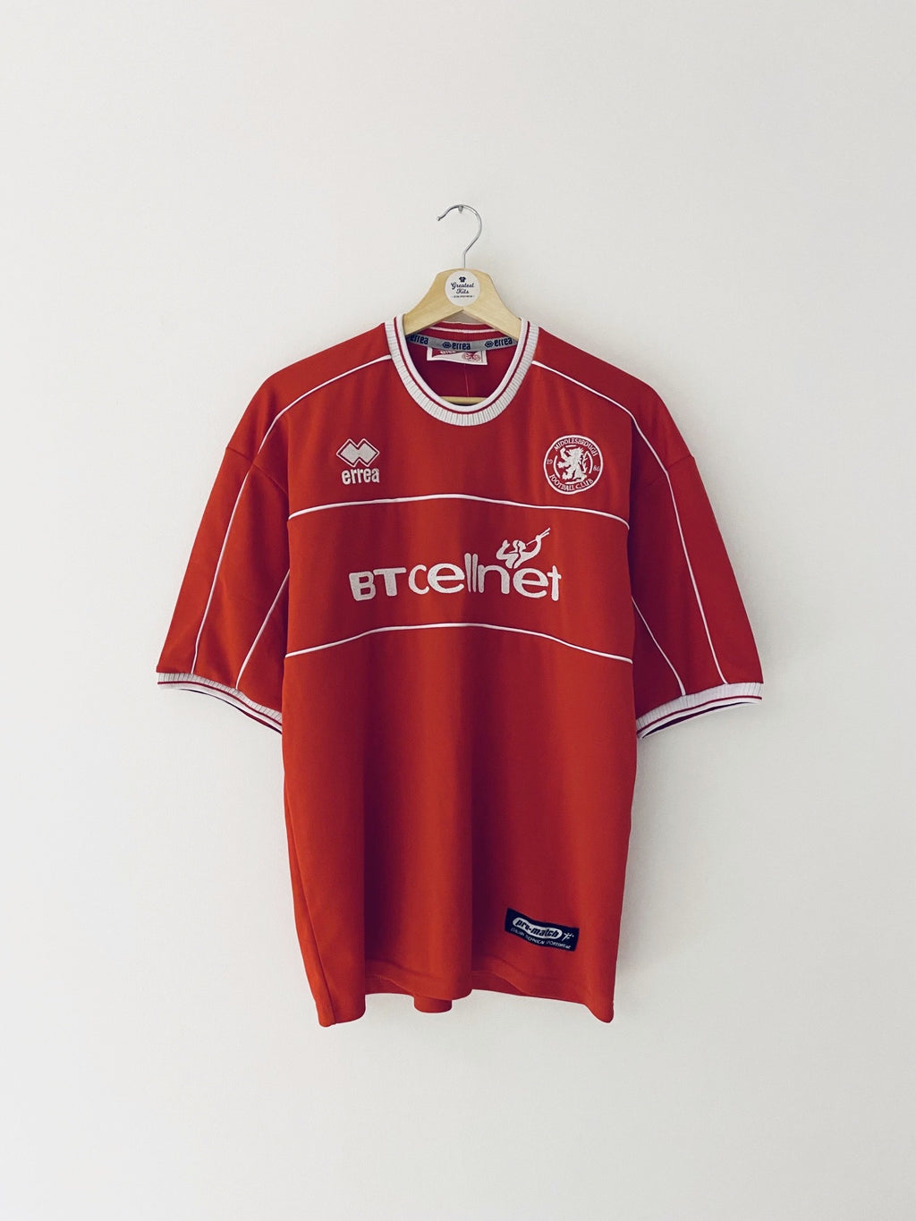 2001/02 Middlesbrough Home Shirt (M) 9.5/10