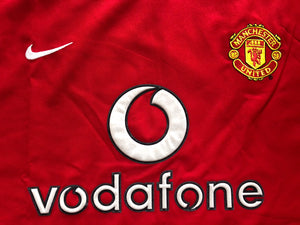 2002/04 Manchester United Home Shirt (L) 9/10