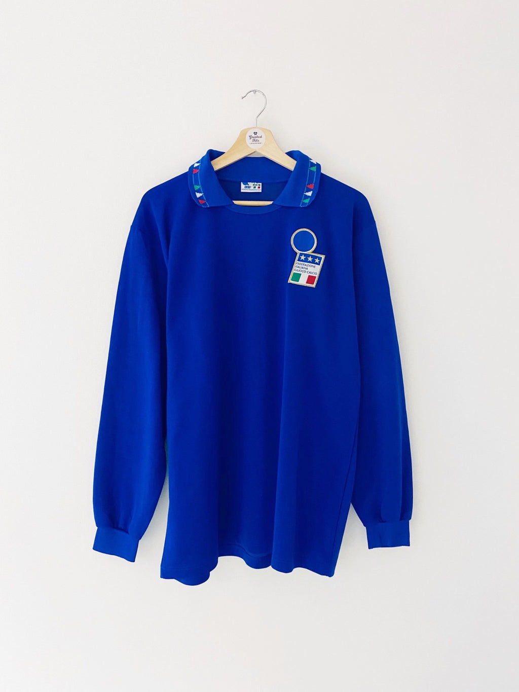1992/93 Italy *Player Issue* Home L/S Shirt (L) 8.5/10