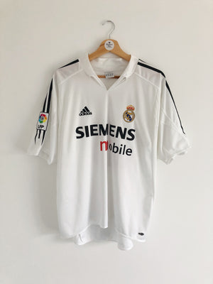 2004/05 Real Madrid Home Shirt Beckham #23 (L) 9/10