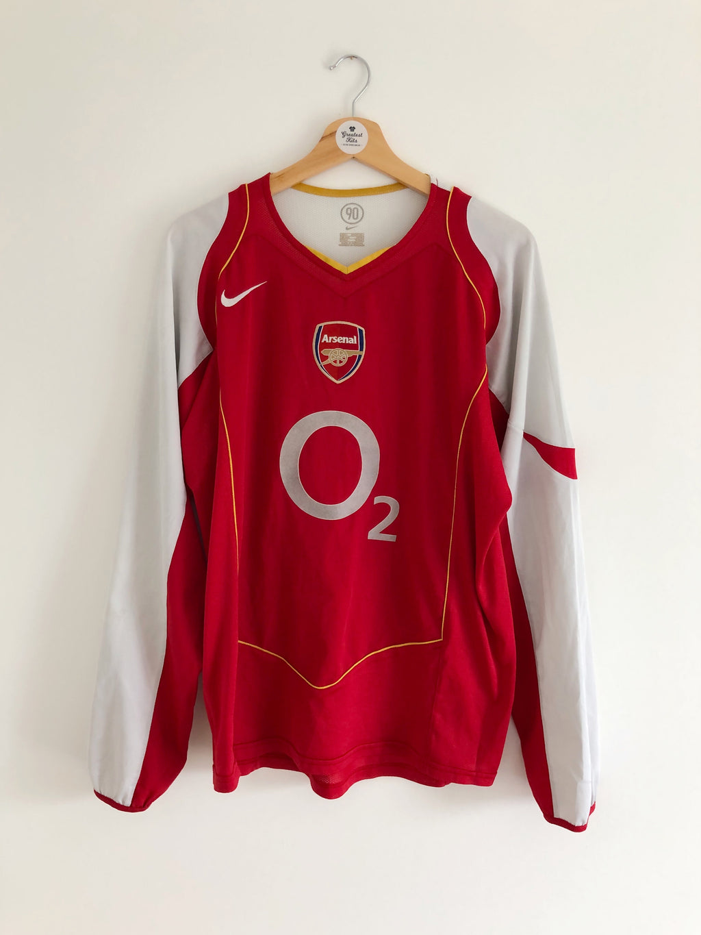 2004/05 Arsenal Home L/S Shirt (L) 7/10