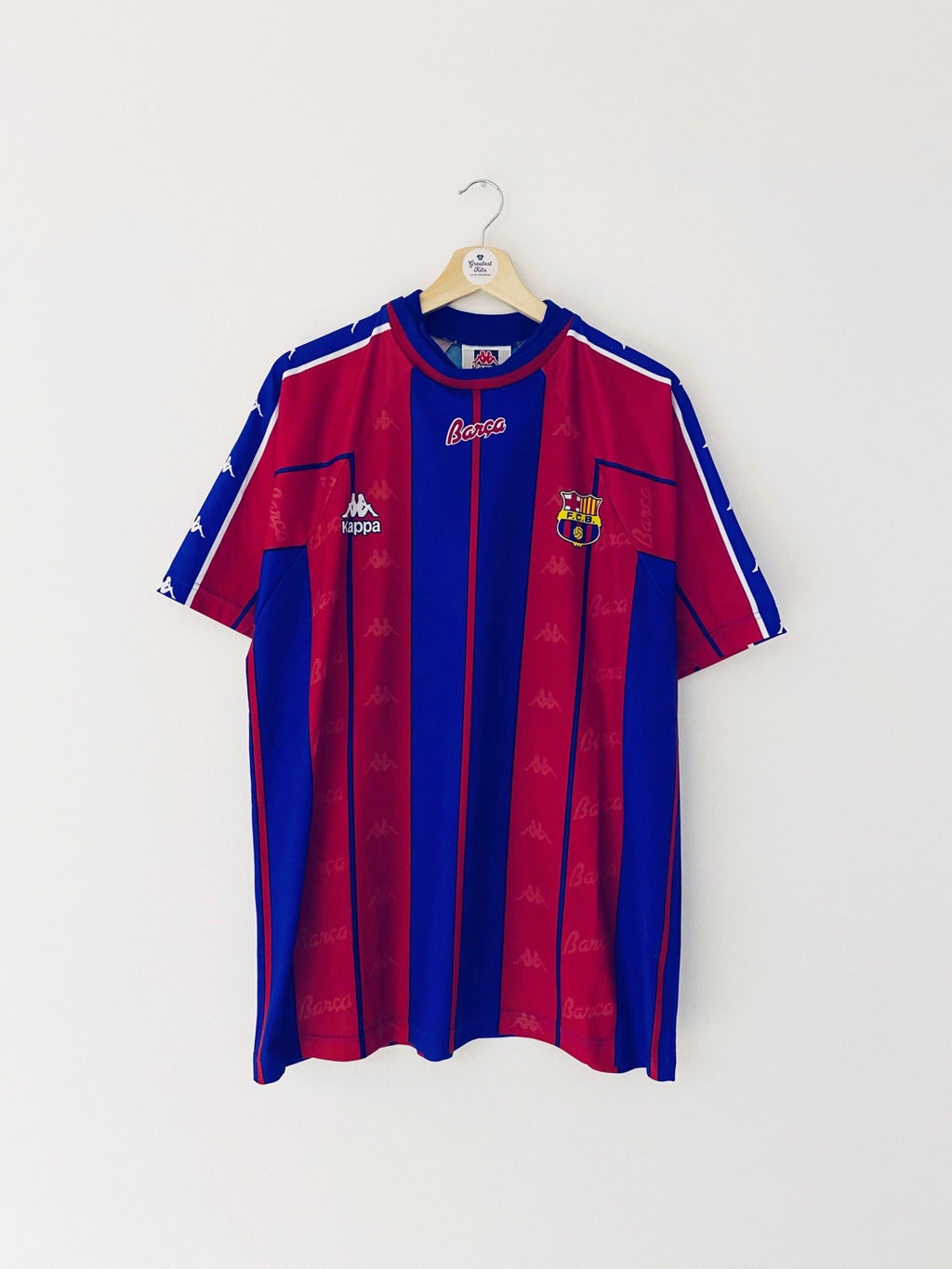 1997/98 Barcelona Basic Home Shirt (XL) 8/10