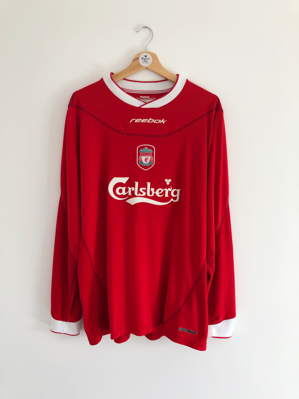 2002/04 Liverpool Home L/S Shirt (XL) 8/10