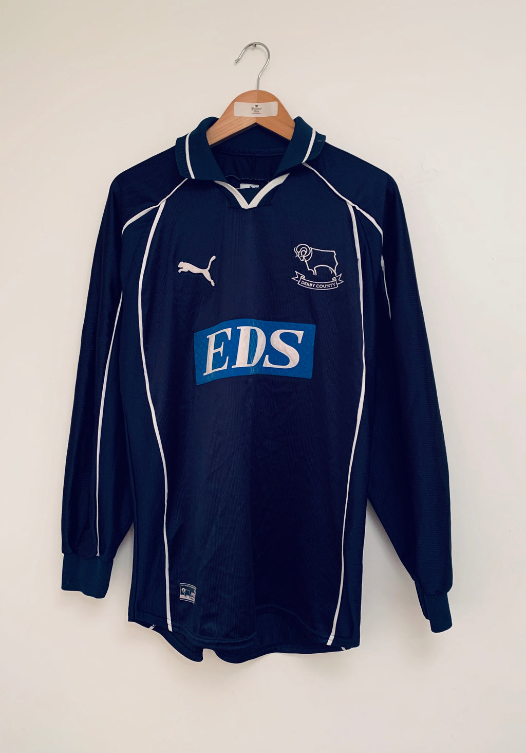 2000/01 Derby County Away L/S Shirt (S) 7/10