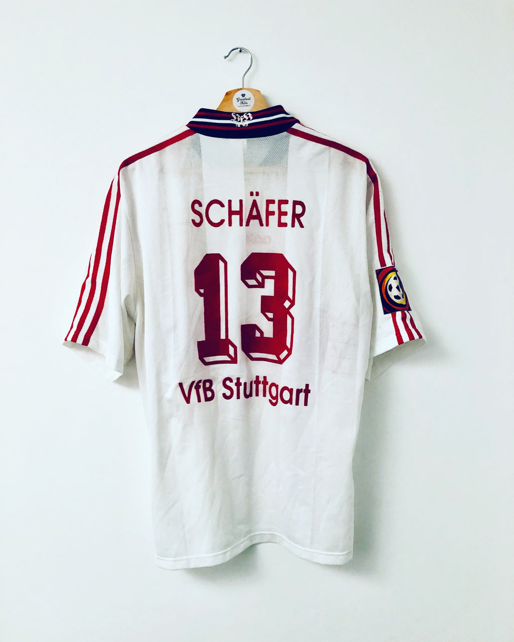 1996/97 Stuttgart Home Shirt Schafer #13 (L) 8.5/10