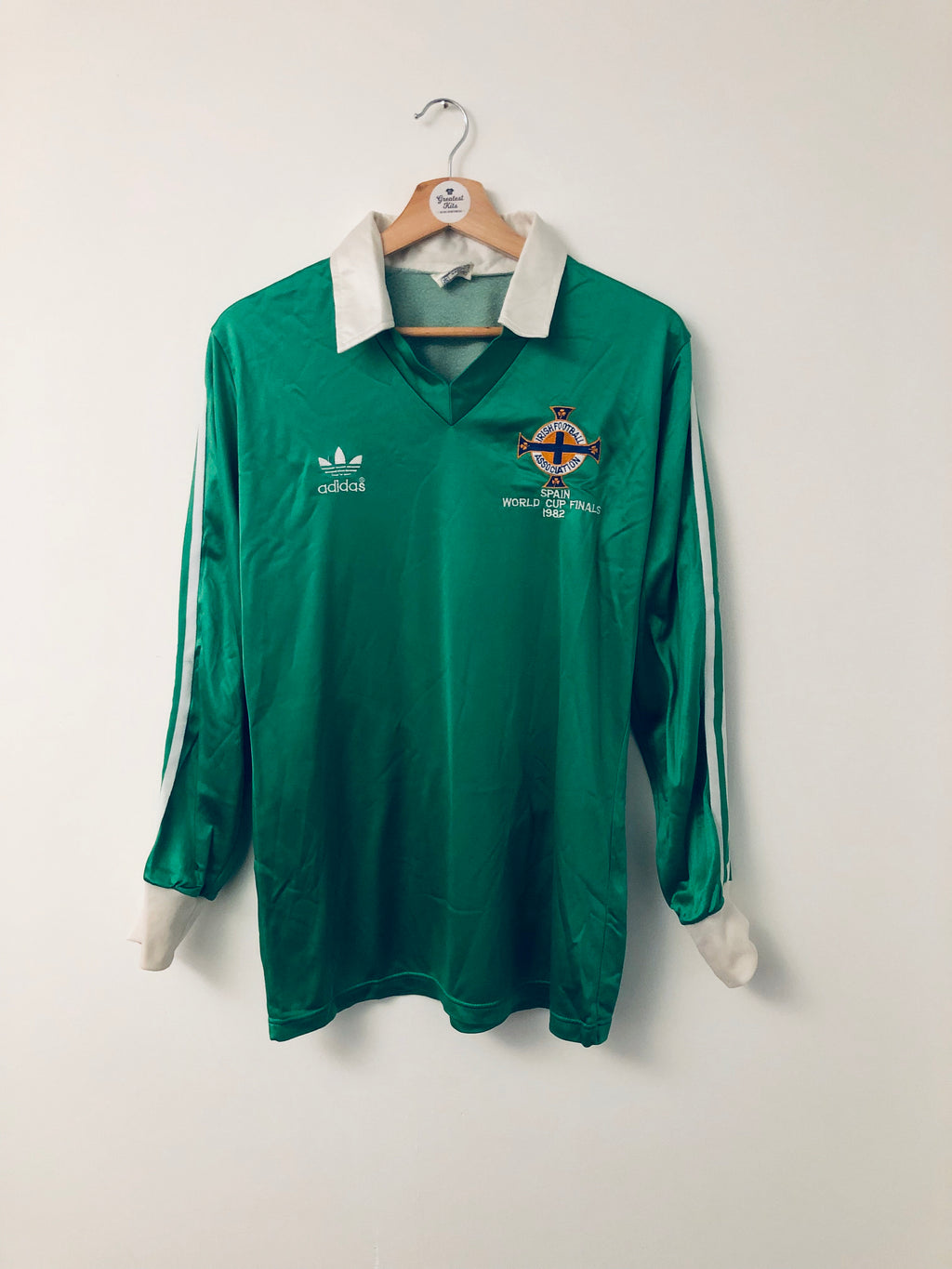 1982 Northern Ireland Home L/S Shirt (M) 9.5/10