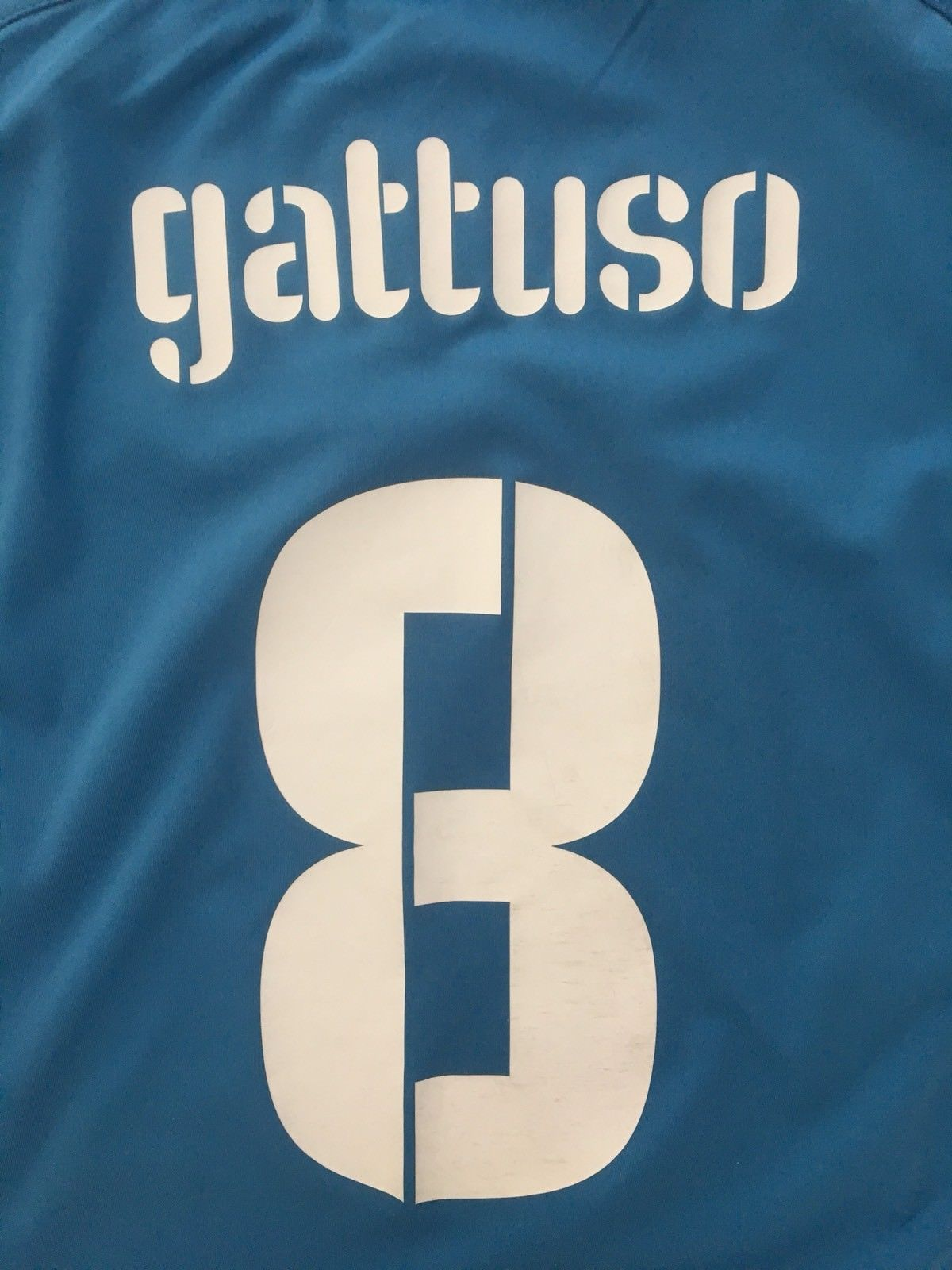 2009 Italy Home Confederations Cup Shirt Gattuso #8 (XL) 9/10