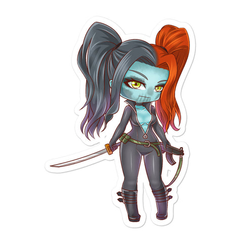 Zoey of the Gaslighters Comic Chibi Sticker