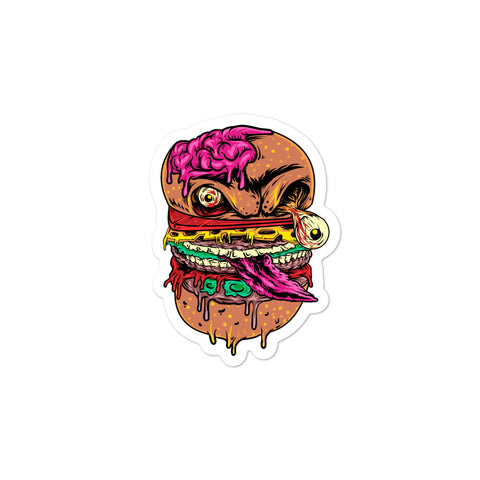 Zombie Burger Sticker