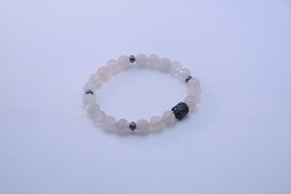 Rose Quartz and Buddha Stretch Bracelet