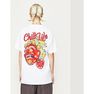 'CHILL LIFE SETTLED' HOMME TEE WHITE