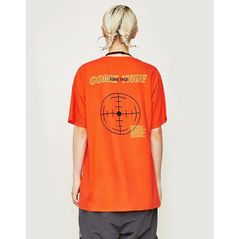 'COME TRUE' HARAJUKU STREET TEE ORANGE