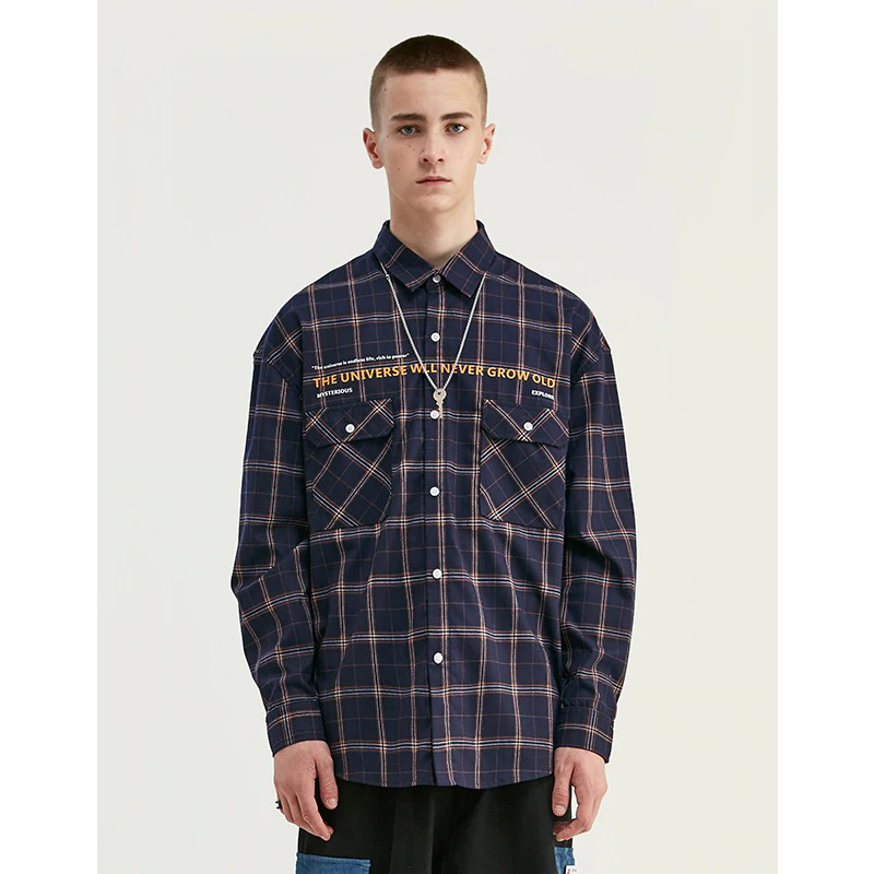 CULTURED FEW PLAID SHIRT - DARK BLUE