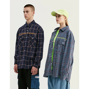 CULTURED FEW PLAID SHIRT - GREY/BLUE