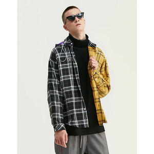 WHATEVER ALT COLOR PLAID HOODED SHIRT