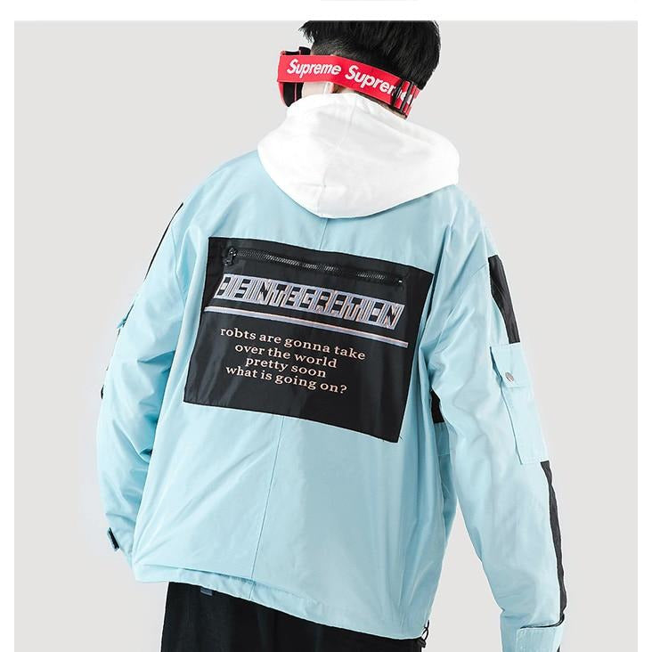 "DISINTEGRATION ""ROBOTS TAKING OVER"" AESTHETIC JACKET - BLUE"
