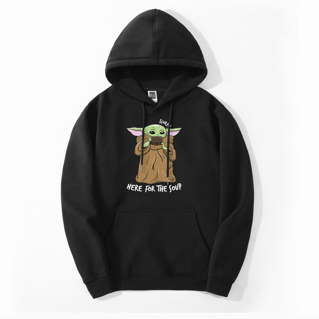 YODA JUST HERE FOR THE SOUP HOODIE