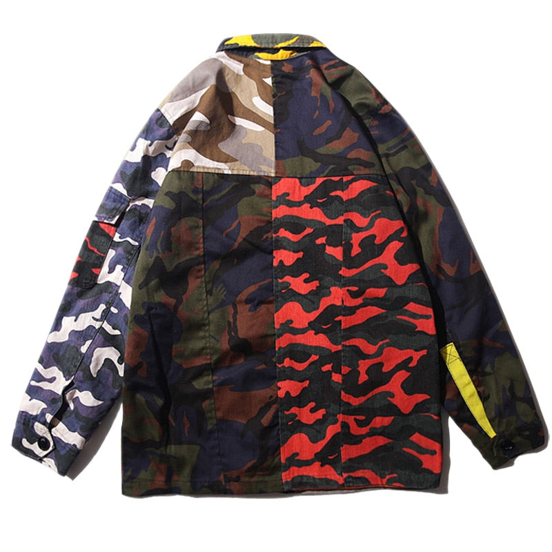 'TACTICAL PATCHWORK' TRENCH JACKET