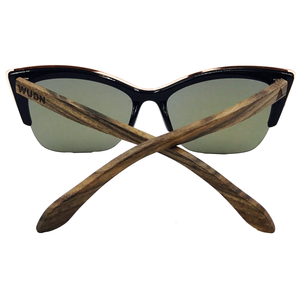 Mens & Women's Handmade Walnut Cat-Eye Sunglasses - High Quality Polarized Lenses