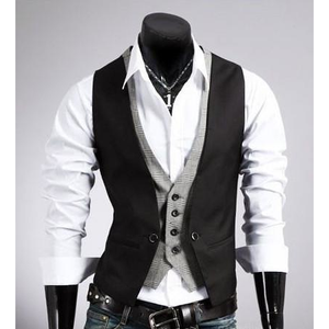 Men's Slim Fit Layered Vest