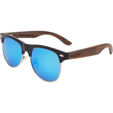Mens & Women's Vintage Hybrid Dark Walnut Sunglasses - Blue Polarized Lenses