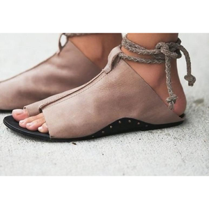 Womens Slip On Lace Up Sandals