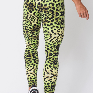 Green Cheetah Print