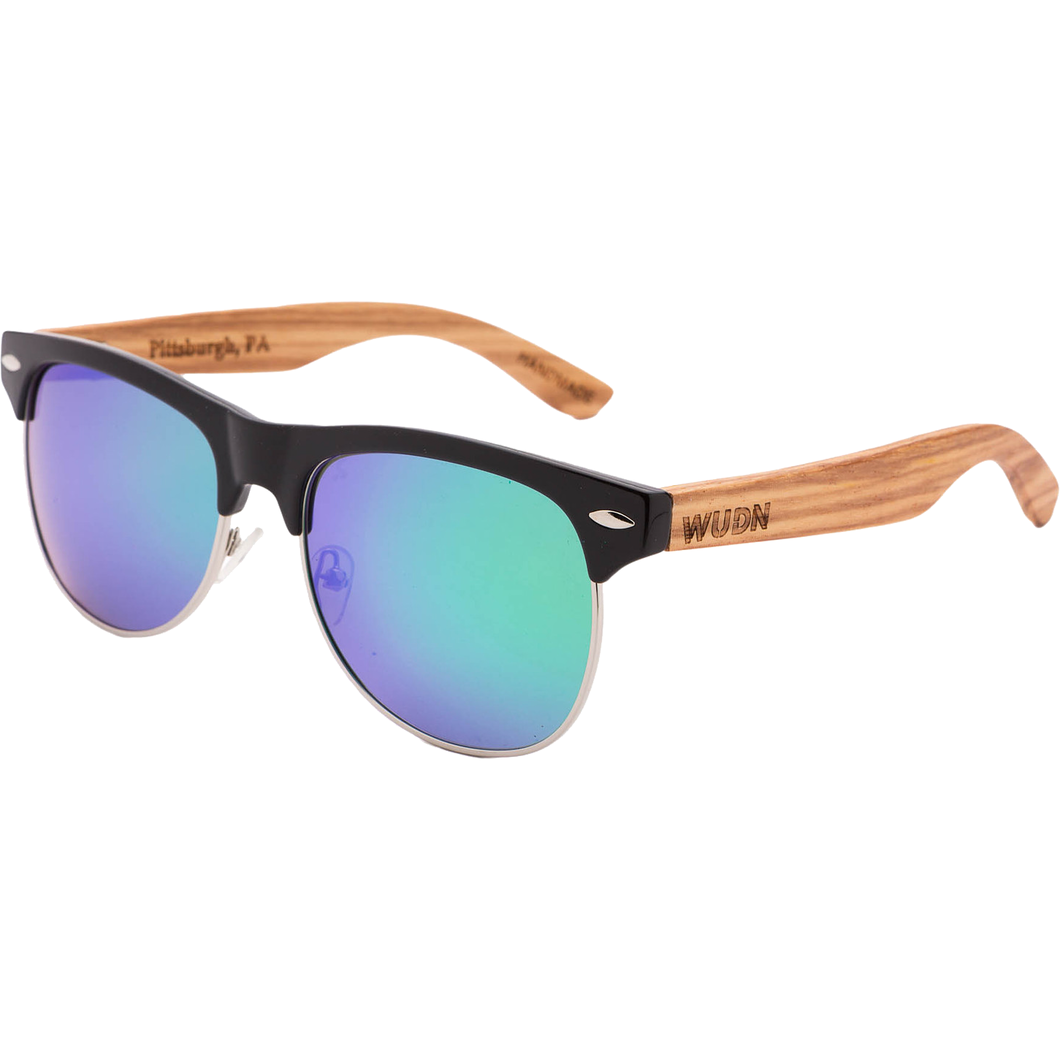 Mens & Women's Vintage Hybrid Zebra Wood Sunglasses - Polarized Lenses