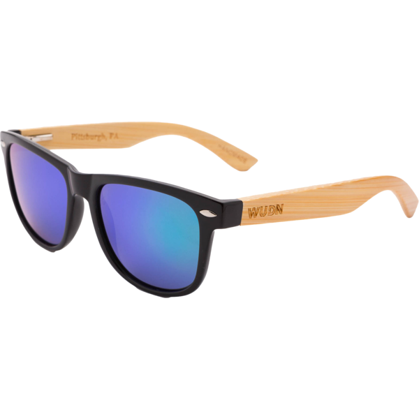 Mens & Women's Handcrafted Bamboo - Green/Blue Polarized Lenses