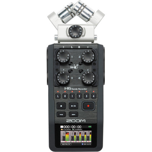 "Zoom H6 Handy 6"" Recorder and 4 XLR Mix"