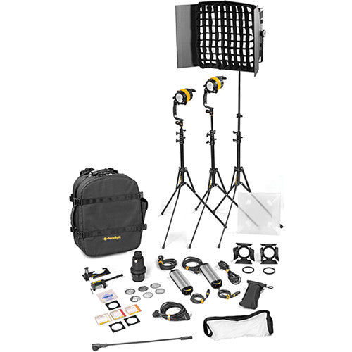 Dedolight 3 Light Kit - BICOLOR AC (STANDARD)  (2x DLED / 1x Felloni)