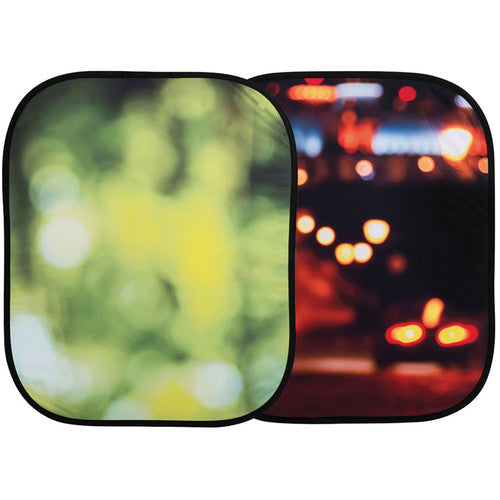 Lastolite Collapsible Background (4x5', Summer Foliage / City Lights)