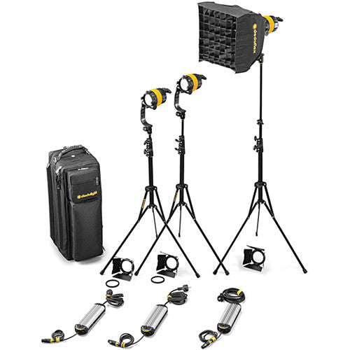 Dedolight DLED4-D Daylight LED 3-Light Basic Kit (Mains Operation)