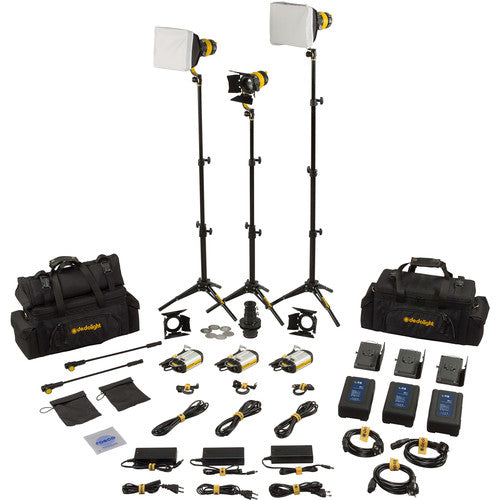 Dedolight DLED3 TURBO 3-Light Master Bi-Color Kit