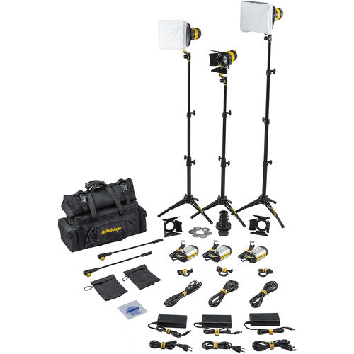 Dedolight DLED3 TURBO 3-Light Standard Bi-Color Kit