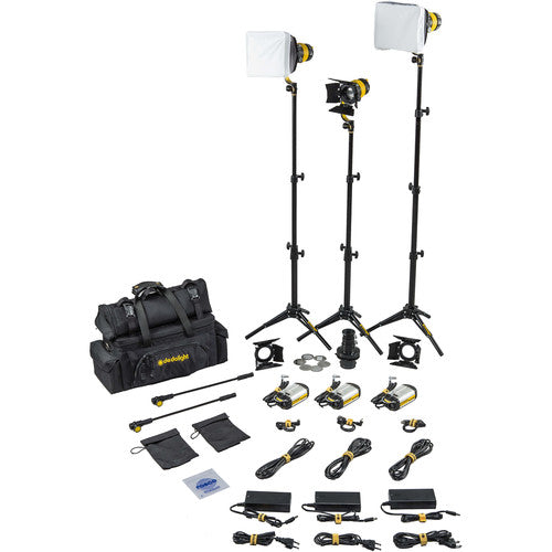 Dedolight DLED3 TURBO 3-Light Standard Daylight Kit