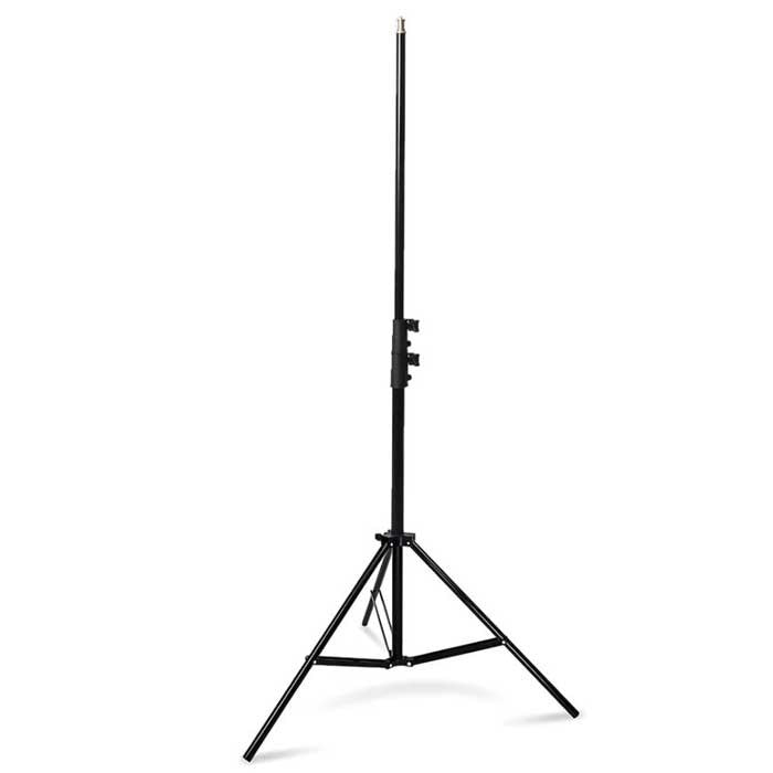 Godox Light Stand 3 Sections Aluminum Construction Spring-Cushioned Max Height 2m